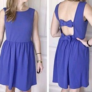 Romeo & Juliet Couture Bow Open Back Blue Dress M